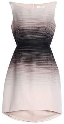 Halston Printed Crepe Mini Dress