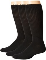 Steve Madden 3-Pack Crew - Ribbed Men's Crew Cut Socks Shoes