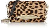Diane von Furstenberg Flirty mini leopard-print calf hair clutch