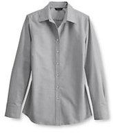 Classic Women's Regular Long Sleeve Oxford Shirt-Charcoal