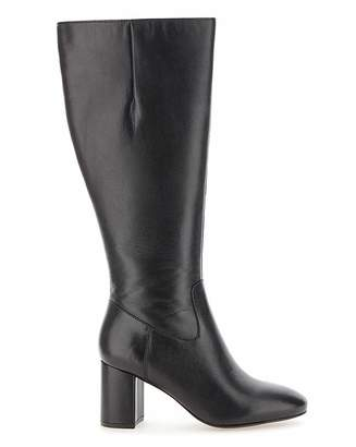 Jd Williams Leather Boots EEE Fit Super Curvy Calf