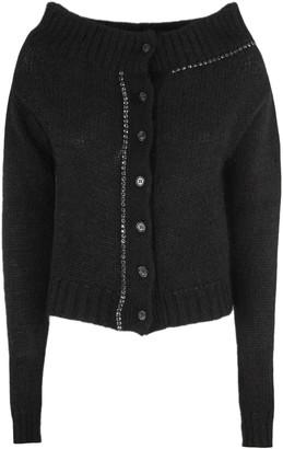 N°21 N.21 Black Wool-blend Cardigan