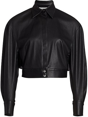 UNTTLD Boxy Leather Shirt