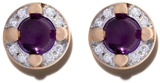 Pomellato 18kt rose gold M'ama non m'ama amethyst and diamond earrings