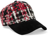 Rag & Bone Marilyn Tweed And Suede Baseball Cap - Red