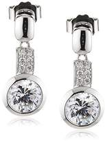 Celesta Women's Stud Earring 925 Stering Silver and 14 White Zirconia Length 25mm 368220002L