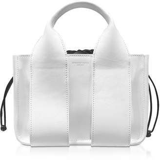Alexander Wang White Calf Leather Rocco Small Tote
