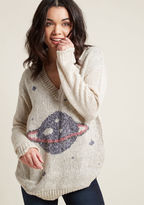Interplanetary Elan Sweater in M - Long Pullover Waist by ModCloth