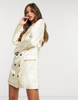 Lioness double breasted blazer dress in cream