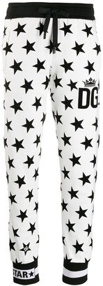 Dolce & Gabbana Millennials Star printed track pants