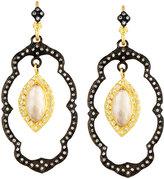 Armenta Old World Lotus Smoky Quartz Doublet Dangle Earrings w/ Diamonds