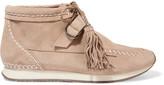 Schutz Cece stitched suede sneakers