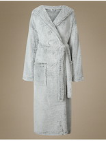 M&S Collection ShimmersoftTM Hooded Dressing Gown