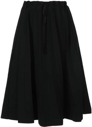 Label Under Construction paper bag waisted mid-length skirt