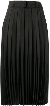Luisa Cerano High-Rise Pleated Midi Skirt