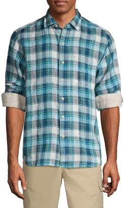Tommy Bahama Linen In Luxury Plaid Shirt