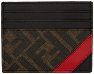 Fendi Black and Red Forever Card Holder