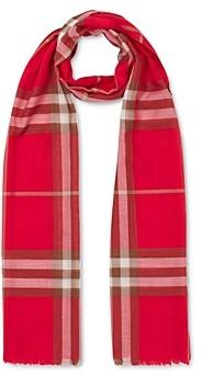 Burberry Check Wool & Silk Gauze Scarf
