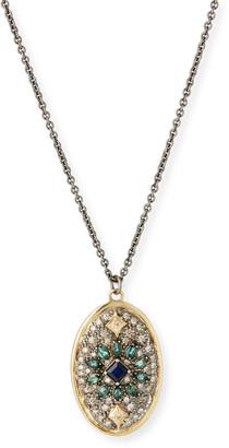 Armenta Old World Diamond Pave Oval Necklace