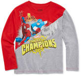 Marvel Long Sleeve Crew Neck T-Shirt-Preschool Boys