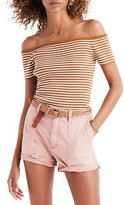 Madewell Women's Stripe Off The Shoulder Tee