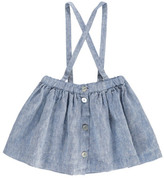 Babe & Tess Sale - Button-Up Skirt with Braces