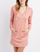 Charlotte Russe Hooded Sweatshirt Dress