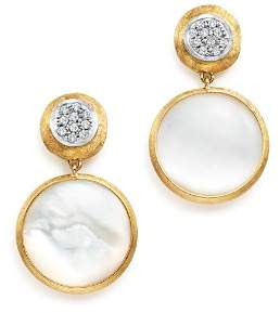 Marco Bicego 18K Yellow Gold Jaipur Mother-Of-Pearl and Diamond Drop Earrings