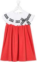 Fendi ruffled dress - kids - Cotton/Polyamide/Spandex/Elastane/Viscose - 3 yrs