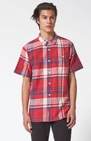 Modern Amusement Syrma Plaid Short Sleeve Button Up Shirt