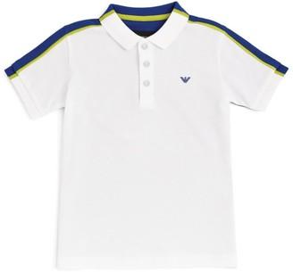 Emporio Armani Kids Colour-Block Stripe Polo Shirt