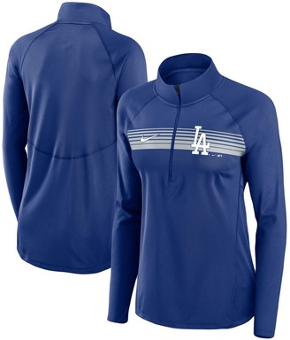 Nike Women's Royal Los Angeles Dodgers Seam-To-Seam Element Half-Zip Performance Pullover Jacket