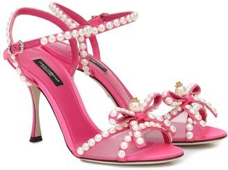 Dolce & Gabbana Keira 85 embellished satin sandals