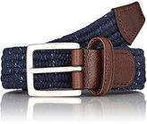 Barneys New York Men's Donegal-Effect Belt-NAVY