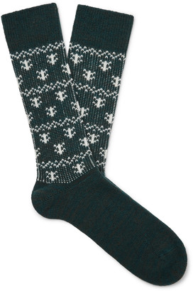 Anonymous Ism Fair Isle Stretch-Knit Socks