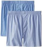 Hanes Men's Full Pima Cotton Stripe Boxer (Pack of 2)