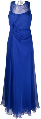 Alberta Ferretti Draped Asymmetric Silk Gown