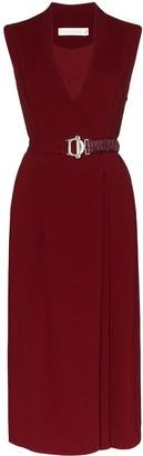 Victoria Beckham Belted Wrap Midi Dress