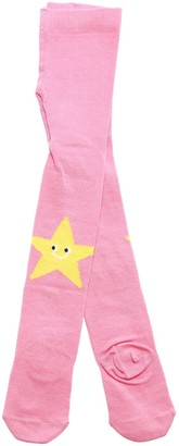 Stella Mccartney Kids Star Intarsia Cotton Blend Tights