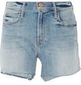 Mother Rascal Frayed Denim Shorts
