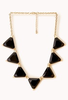 Forever 21 Faceted Faux Gemstone Necklace