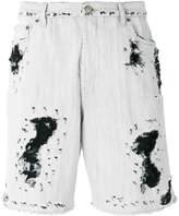 Golden Goose Deluxe Brand distressed denim shorts