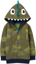 Gymboree Camo Dino Zip-Up Fleece-Lined Hoodie - Infant
