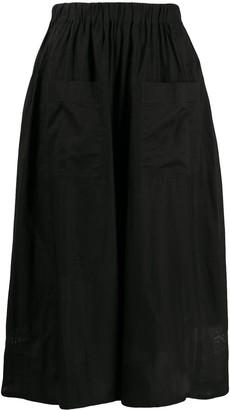 Zucca Poplin Flared Skirt