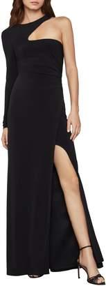 BCBGMAXAZRIA Single-Sleeve Gown