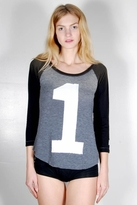Rebel Yell #1 Baseball Tee in Black