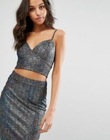 Lipsy Metallic Co-ord Bralette