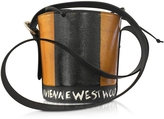 Vivienne Westwood Buckingham Tan Leather Signature Bucket Bag