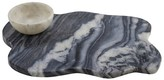 Thirstystone Wavy Marble Serving Board with Bowl