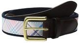 Vineyard Vines Saba Rock Plaid Canvas Club Belt Men's Belts